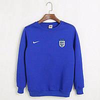 Футбольный свитшот (кофта) сборной Англии-Найк, England, Nike, синяя, К4478