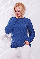 Теплый женский свитер LOLO джинс ТМ FashionUp 42-50 размеры