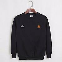 Футбольный свитшот (кофта) Испании-Адидас, Spain, Adidas, черный, К4513