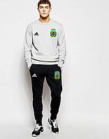 Спортивный костюм сборной Аргентины,Argentina, Adidas, Адидас, серо-черный, К4798