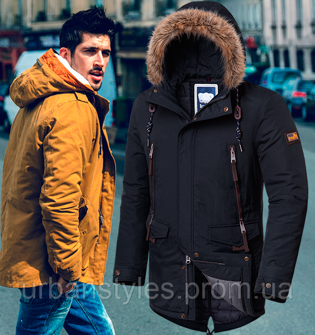 Мужская куртка парка осень