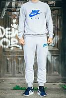 ТЕПЛЫЙ Мужской Спортивный костюм Nike Air Найк серый (большой принт) (реплика)