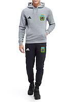 Спортивный костюм сборной Аргентины, Argentina, Adidas, Адидас, с капюшоном, серо-черный, К4823