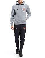 Спортивный костюм сборной Португалии, Portugal, Nike, Найк, с капюшоном, серо-черный, К4839