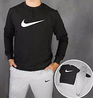 НАЧЕС Модный спортивный костюм Nike Найк черный (большой принт) (реплика)