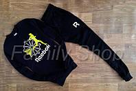 НАЧЕС Спортивный костюм мужской Reebok Рибок черный (реплика)