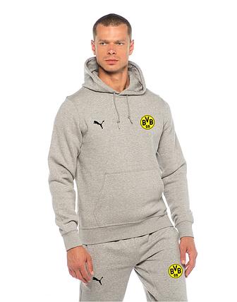 d4d0dd6766d5 Спортивный костюм Боруссия, Borussia, Puma, Пума, серый, с капюшоном, К4881
