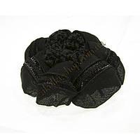 Аксессуары для волос; Сеточка вязаная для гульки черная, 12 штук в упаковке