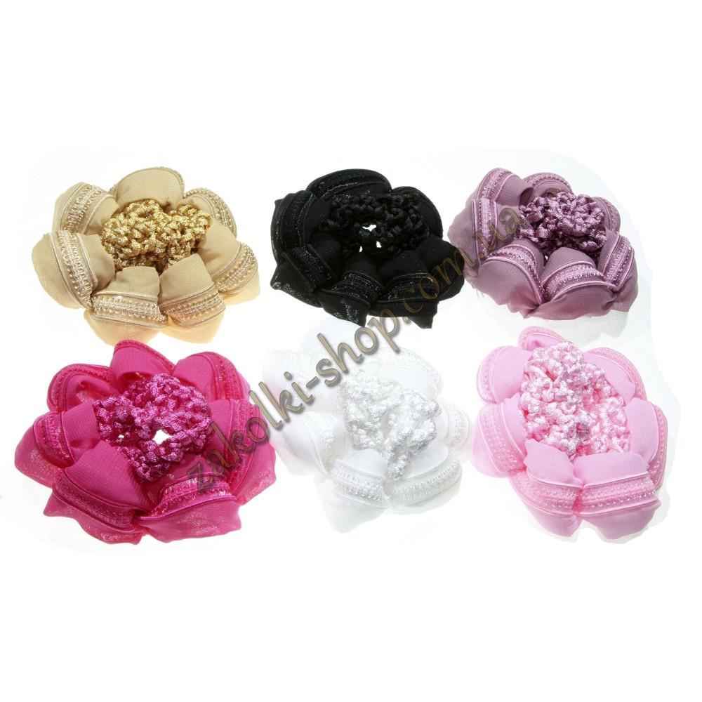 Аксесуари для волосся; Сіточка в'язана для гульки кольорова, 12 штук в упаковці