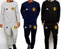 Спортивный костюм сборной Бельгии, Belgium, Адидас, Adidas, серый, синий, черный, К4907