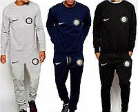 Спортивный костюм Интер, Inter, Nike, Найк, серый, синий, черный, К4912