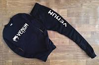 НАЧЕС Модный спортивный костюм Venum Венум черный (большой белый принт) (реплика)