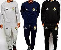 Спортивный костюм Реал Мадрид, Real Madrid, Adidas, Адидас, серый, синий, черный, К4921