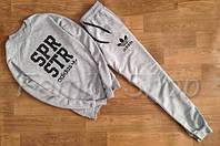 НАЧЕС Спортивный костюм мужской Adidas (SPR STR серый) (реплика), фото 1