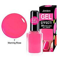 Лак для ногтей Jerden Gel Effect №7 (morning rose) (9мл) , фото 3