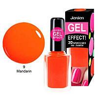 Лак для ногтей Jerden Gel Effect №9 (mandarin) (9мл) , фото 2