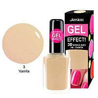 Лак для ногтей Jerden Gel Effect № 3 (vanilla) (9мл)
