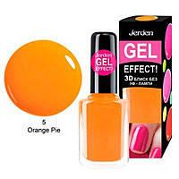 Лак для ногтей Jerden Gel Effect №5 (orange pie) (9мл) , фото 2
