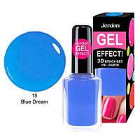 Лак для ногтей Jerden Gel Effect № 15( blue dream.) (9мл) , фото 3