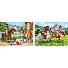 Пазли Castorland 2 в 1 Прогулянка на конях