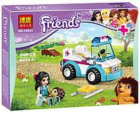 """Конструктор """"Friends"""" 10534 """"Ветеринарная скорая помощь"""" 90 дет, в коробке"""