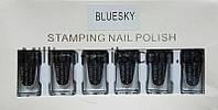 Набор лак-красок для стемпинга Bluesky STAMPING NAIL POLISH (черный)