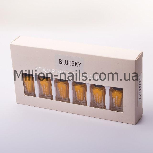 Набір лак-фарб для стемпинга Bluesky STAMPING NAIL POLISH (золото)