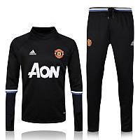 Тренировочный костюм Манчестер Юнайтед, MU, Adidas, Адидас, черный, 2016 - 2017, к13