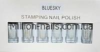 Набор лак-красок для стемпинга Bluesky STAMPING NAIL POLISH (белый)