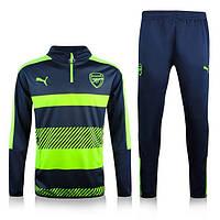 Тренировочный костюм Arsenal, Puma, Арсенал, Пума, черный, салатовый, 2016 - 2017, к21