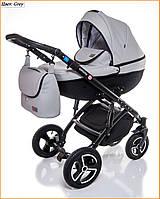 Детская коляска 2 в 1 Broco Infinity Grey - серый