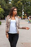 Стильная демисезонная куртка косуха из экокожи новинка ( 42,44,46)