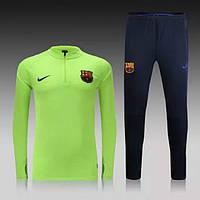Тренировочный костюм Nike-Barcelona, Барселона, Найк, салатовая олимпийка, черные штаны, к30