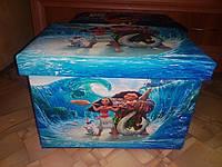 """Ящик -органайзер-  сидения для игрушек """"Моана"""""""