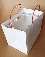 Крафт пакет для коробки на 6 капкейков