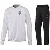 Тренировочный костюм Ювентус, Juventus, Adidas, Адидас, белая олимпийка, черные штаны,2017 года, к47