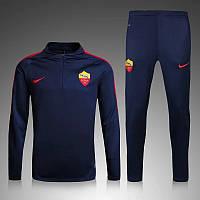 Тренировочный костюм Рома, Roma, Nike, Найк, черный, домашний, к48