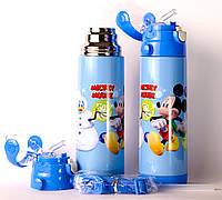 Термос для детей 0.5 литра,  Микки Маус для мальчиков и девочек