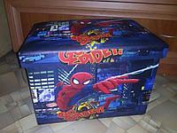 """Органайзер- ящик- сидения для игрушек """"Человек паук"""""""