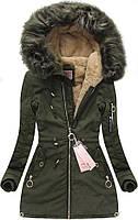 Зимняя куртка женская  с капюшоном 4 цвета