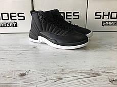 Баскетбольные кроссовки Nike Air Jordan 12 XII Retro Black Nylon, фото 2