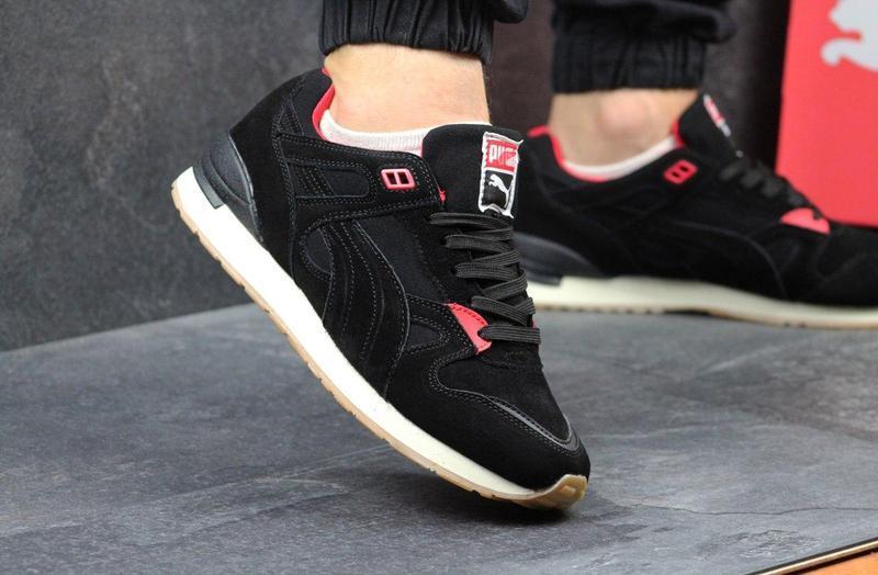 be5e11e54a3aef Чоловічі кросівки Puma чорні з червоним , цена 865 грн./пара, купить  Хмельницький — Prom.ua (ID#581666583)