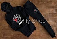 АКЦИЯ размер ХЛ УТЕПЛЕННЫЙ Спортивный костюм Reebok Рибок черный