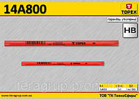 Карандаш столярный HB,  TOPEX  14A800