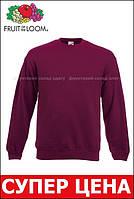 Мужской классический свитер Бордовый Fruit Of The Loom 62-202-41 S