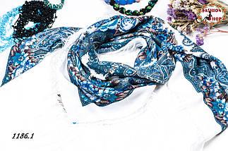 Павлопосадский белый платок Осеннее танго, фото 3