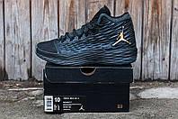 Кроссовки  Nike Air Jordan найк высокие Качество топ ,кожа ,сетка,осень-весна размеры:41-45 Вьетнам черные