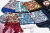 Бордовый павлопосадский шерстяной платок Осеннее танго, фото 2