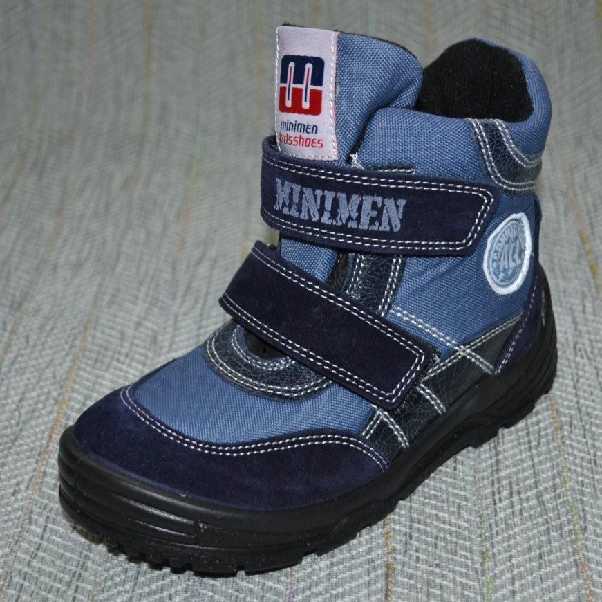 Ботиночки осень-зима липучки, Minimen размер 26 30