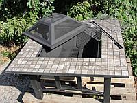 """Костровая стол-барбекю """"Мозаика"""" (100x100x50 см)"""
